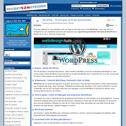 » WordPress : 10 sites pour se former gratuitement - News & Actualité sur S2M par 1ere Position