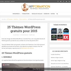 25 Thèmes WordPress gratuits à découvrir en 2015
