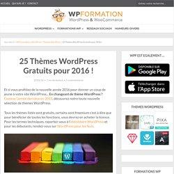 25 thèmes WordPress gratuits pour bien démarrer en 2016