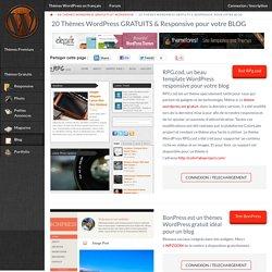 20 Thèmes WordPress GRATUITS & Responsive pour votre BLOG