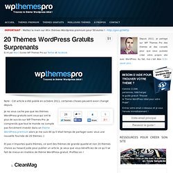 20 Thèmes Wordpress Gratuits Surprenants
