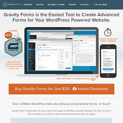 WordPress Forms - Gravity Forms Contact Form Builder and Lead Data Management Plugin For WordPress