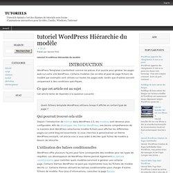 tutoriel WordPress Hiérarchie du modèle
