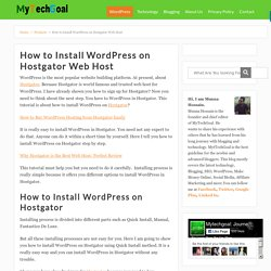 How to Install WordPress on Hostgator Web Host - MyTechGoal