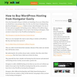 How to Buy WordPress Hosting from Hostgator Easily - MyTechGoal