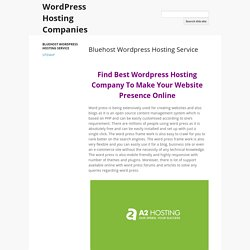Get Professional WordPress Hosting Companies