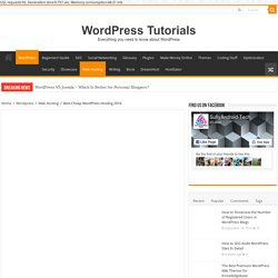 Best Cheap WordPress Hosting 2016 - WordPress Tutorials