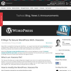 8 Ways To Secure WordPress With .htaccess