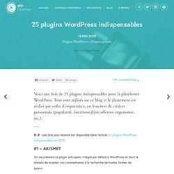 25 plugins WordPress indispensables
