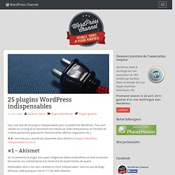 25 plugins WordPress indispensables