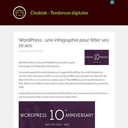 WordPress : une infographie pour fêter ses 10 ans