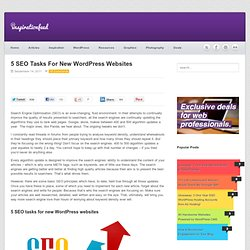Trafic moteur de recherche: 5 Tâches SEO pour les sites Web WordPress Nouveaux
