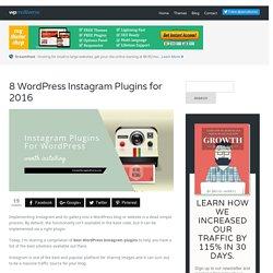 8 WordPress Instagram Plugins for 2016