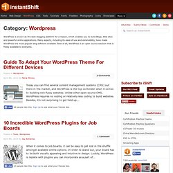 Wordpress | InstantShift | Web Designers and Developers Daily Resource.
