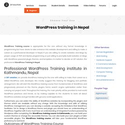 WordPress Training Institute Kathmandu