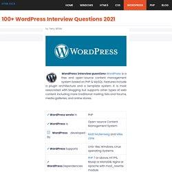 100+ WordPress Interview Questions 2021 [UPDATED]