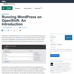 Running WordPress on OpenShift: An Introduction