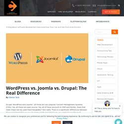 WordPress vs. Joomla vs. Drupal: The Real Difference