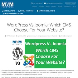 Wordpress Vs Joomla: Which CMS Choose For Your Website?