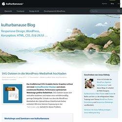 SVG-Dateien in die WordPress-Mediathek hochladen