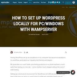 How to Set Up WordPress Locally for PC/Windows with WampServer