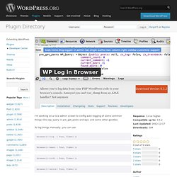 WP Log in Browser