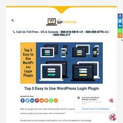 Top 5 Easy to Use WordPress Login Plugin