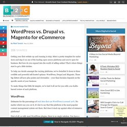 WordPress vs. Drupal vs. Magento for eCommerce