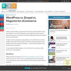 WordPress vs. Drupal vs. Magento for eCommerce