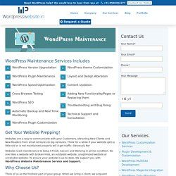WordPress Maintenance Services in India