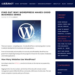 Find Out Why WordPress Makes Good Business Sense