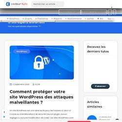 Comment protéger votre site WordPress des attaques malveillantes ? — Tutoriels CMS, par Codeur.com