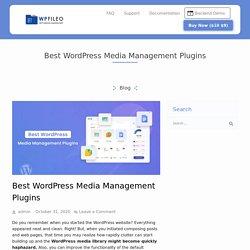 Top 10 WordPress Media Manager Plugins For 2021