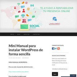 Mini Manual para instalar WordPress de forma sencilla