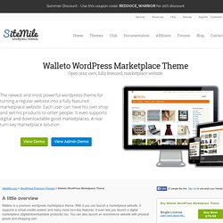 Walleto WordPress Marketplace Ecommerce Theme