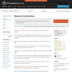 Masonry Post Gallery
