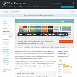 MaxButtons: WordPress Button Generator