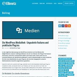 Die WordPress Mediathek – Ungeahnte Features und praktische Plug-ins · Elbnetz Blog