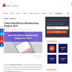 7 Best WordPress Membership Plugins 2017 - WP VILLA