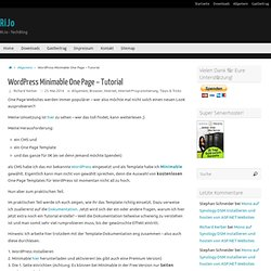 Wordpress Minimable One Page - Tutorial - RiJo