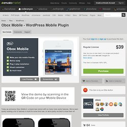 Obox Mobile - WordPress Mobile Plugin