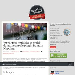 WordPress multi-site et multi-domaine avec le plugin Domain Mapping