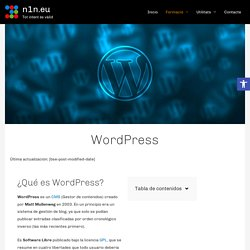 WordPress - n1n.eu