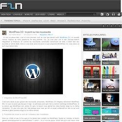 Wordpress 3.0 : le point sur les nouveautés