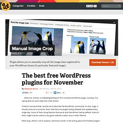 The best free WordPress plugins for November