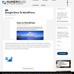 NumeriBlog by Thierry Vanoffe