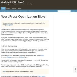 WordPress Optimization Bible