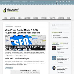 Design weblog for designers » Wordpress Social Media & SEO Plugins for Optimize your Website