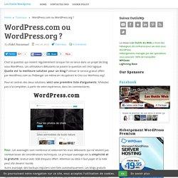 Wordpress.com ou Wordpress.org ?
