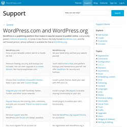 vs. WordPress.org